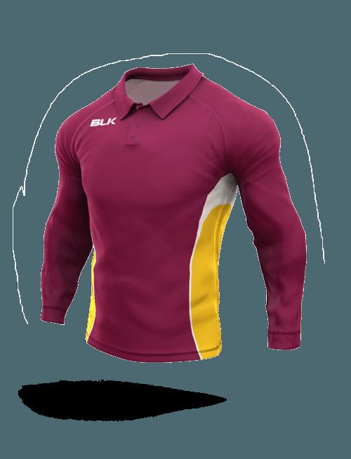 Cricket Long Sleeve Polo